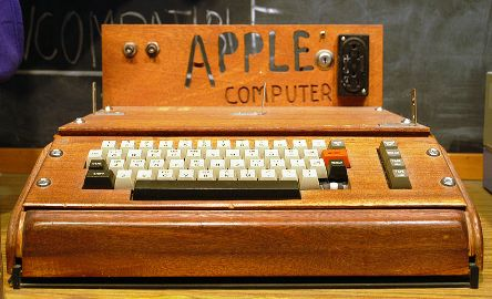 Apple I on display.