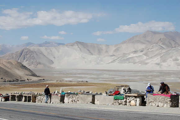 A view of the Karakoram Highway.