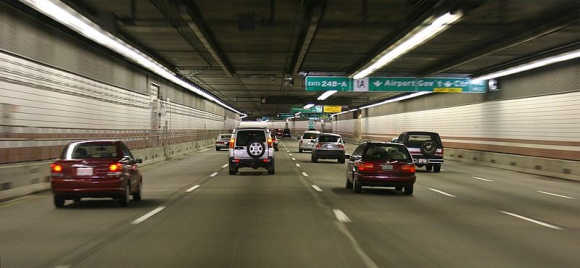 Interstate I-93 Tunnel in Boston, part of the Big Dig