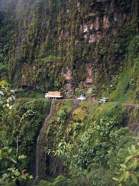 Yungas Road between La Paz and Coroico.