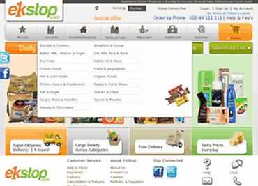 Snapshot of Ekstop, online grocery retailer