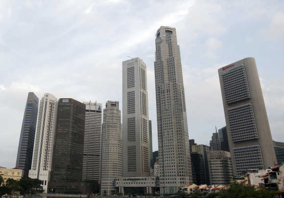 A view of Singapore's financial district.