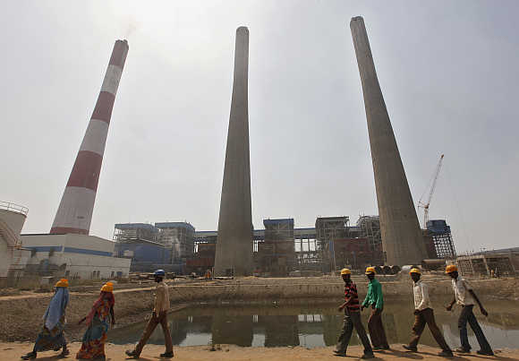 Jindal Power and Steel complex at Nisha village in Orissa.