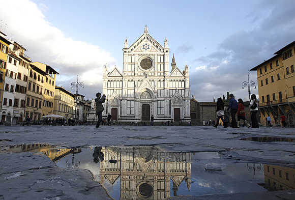 Santa Croce Church in Florence.