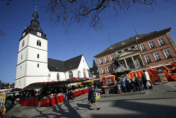 A market in Detmold.