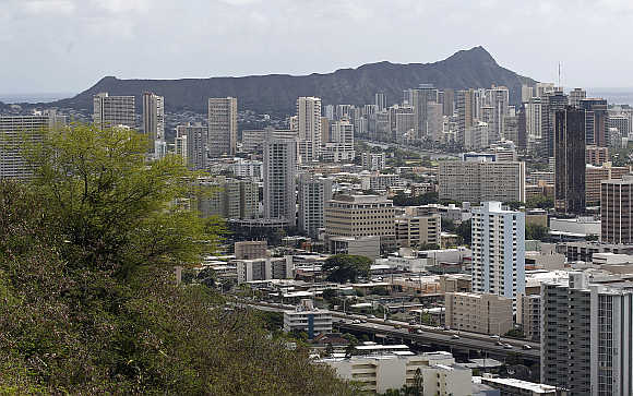 A view of Honolulu, Hawaii.