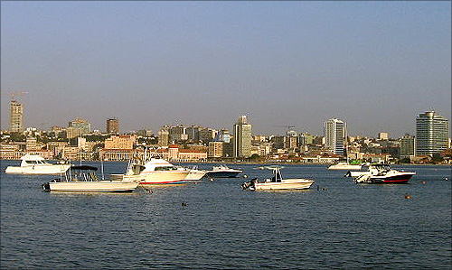 Bay of Luanda (view from Luanda Island), Angola.