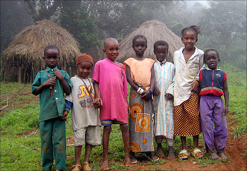 Children in Guinea.