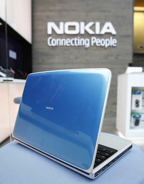 Nokia's netbook, the Booklet 3G.