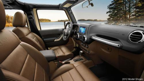 Interiors of Jeep Wrangler