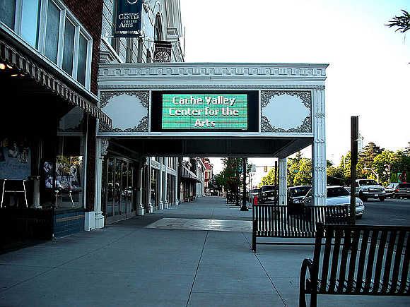 A view of Logan, Utah-Idaho.