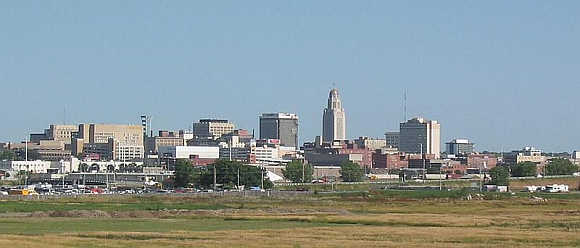 A view of Lincoln, Nebraska.