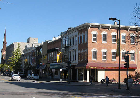 A view of Iowa City, Iowa.