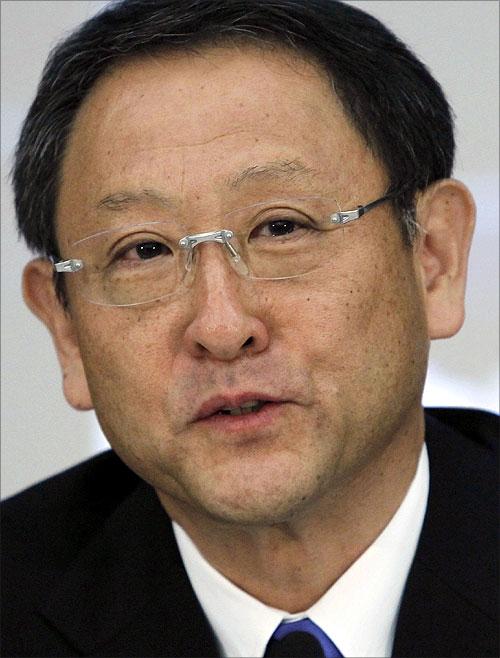 Toyota Motor Corp President Akio Toyoda.