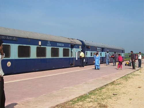 Express train at Digha station.