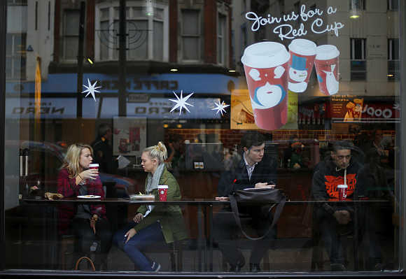 A Starbucks Coffee shop in central London.