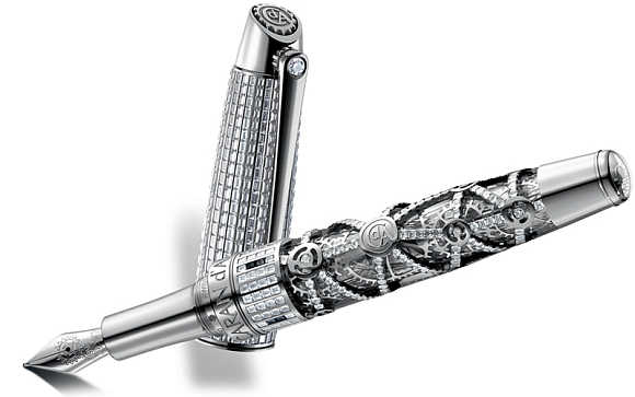 Caran d'Ache 1010 Diamonds Limited Edition Fountain Pen.