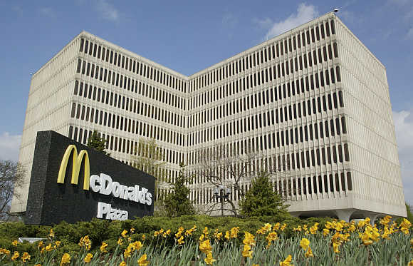 McDonald's corporate headquarters in Oakbrook, Illinois, a suburb of Chicago.