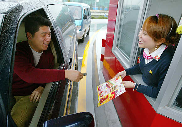 McDonald's drive-thru in Shanghai.
