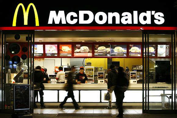 McDonald's restaurant in Tokyo.