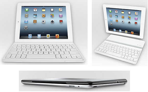 Logitech's Ultrathin iPad keyboard turns iPad into a writing machine.