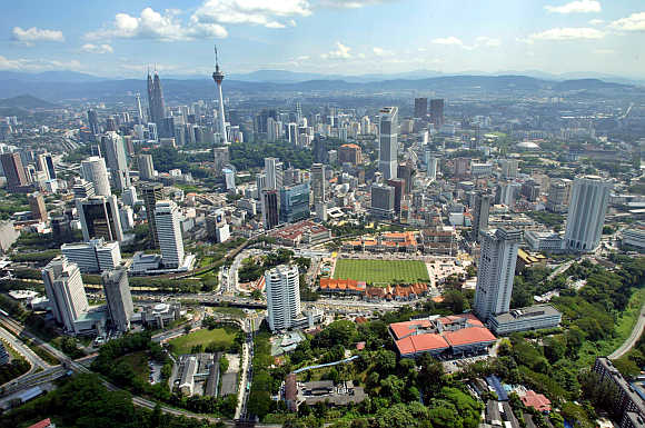 A view of Malaysia's capital Kuala Lumpur.
