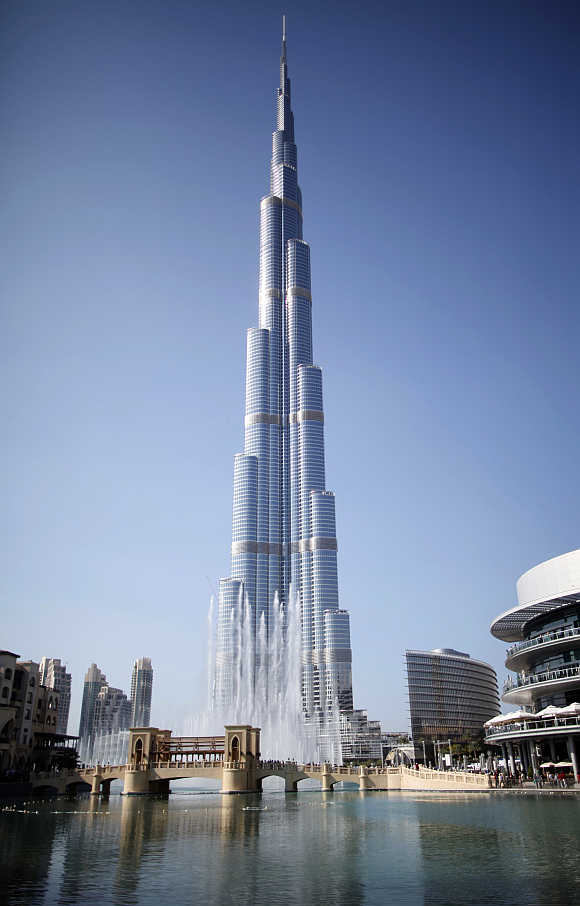 A view of Burj Khalifa, the world's tallest tower, in Dubai.