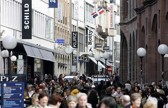 Freie Strasse in Basel.