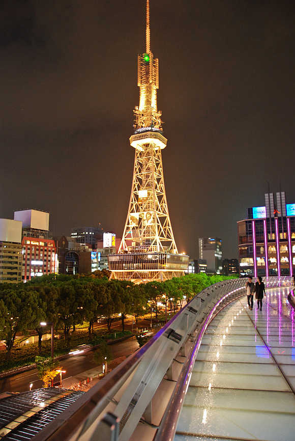 A view of Nagoya in Japan.