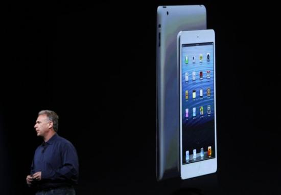Apple senior vice president of worldwide marketing Philip Schiller introduces the new iPad mini