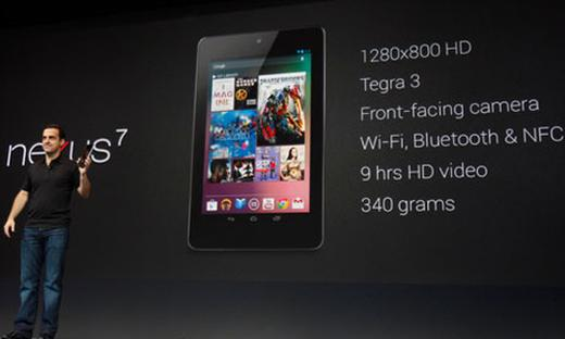 Google Nexus 7, a tough competitor to Apple and Samsung tablets