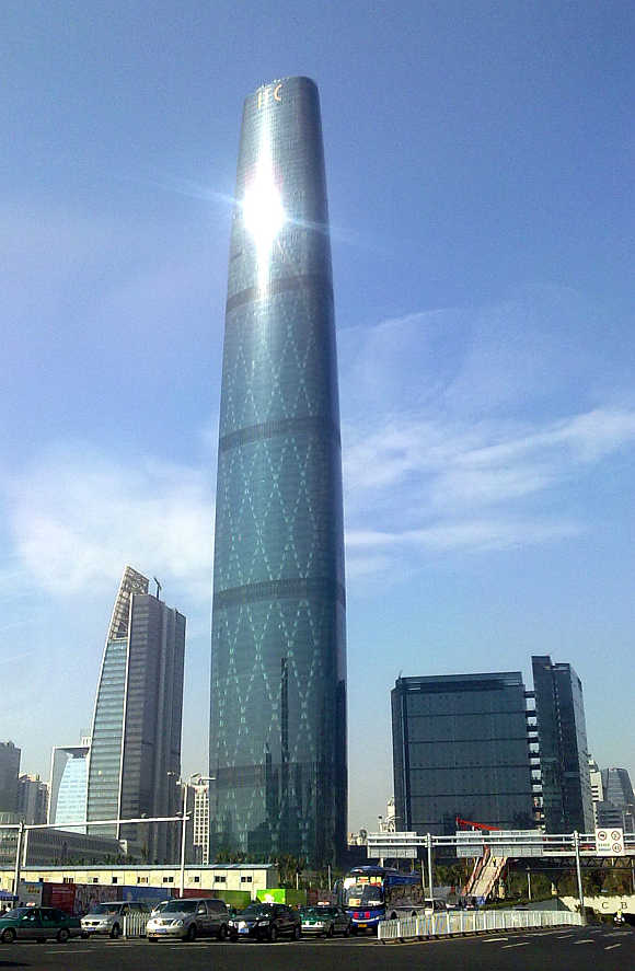 Guangzhou International Finance Center in Guangzhou, China.