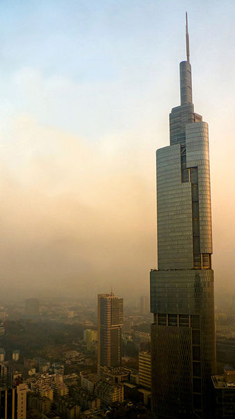 Zifeng Tower in Nanjing, China.