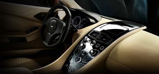Interiors of Aston Martin Vanquish