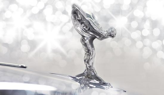 The Spirit of Ecstasy, the bonnet ornament on Rolls-Royce cars
