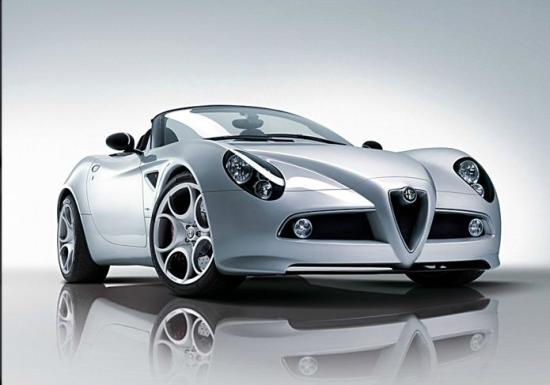 Alfa Romeo 8C Spider, a brand owned by Fiat