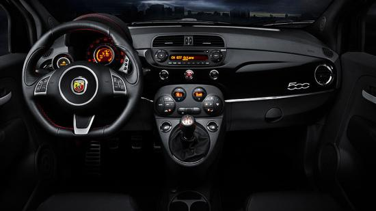 Interiors of Fiat Abarth.