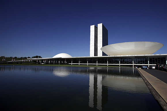 Brazilian National Congress in Brasilia.