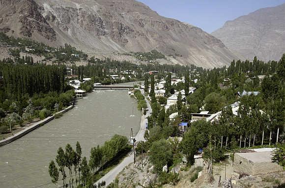 A view of Khorog, capital of the autonomous region of Gorno-Badakhshan, Tajikistan.