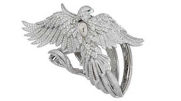 Cartier Secret Watch with Phoenix Decor.