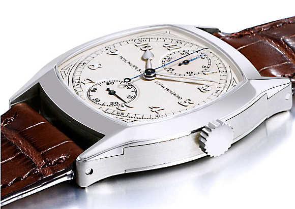 Patek Philippe 1928 Single-Button Chronograph Watch.