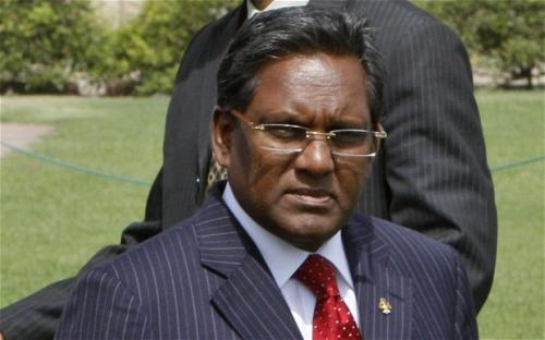 The Maldives President Mohammed Waheed whose government terminated GMR's contract