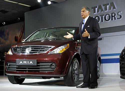 Ratan Tata with Aria in New Delhi.