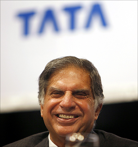 Ratan Tata at the re-opening of the group's Taj Mahal hotel in Mumbai.