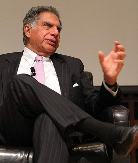 Ratan Tata at Cornell University.