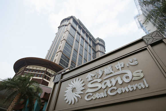 Sands Cotai Central logo in Macau.