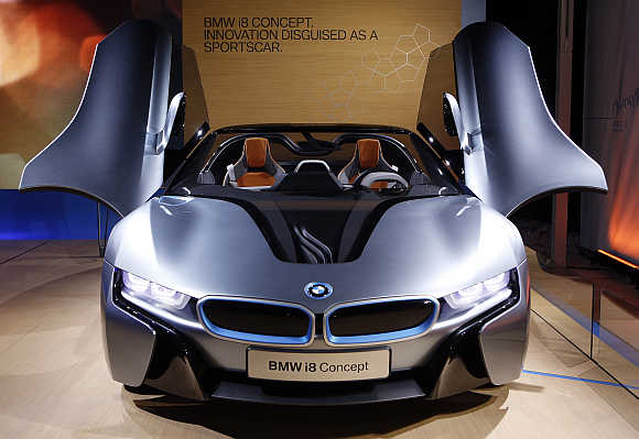 BMW i8 Concept Spyder in New York.