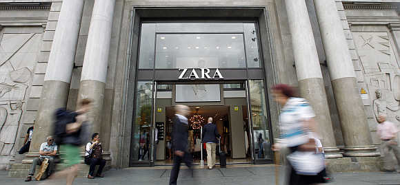 A Zara store in Barcelona.