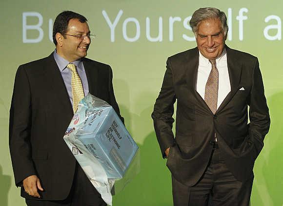 Ratan Tata with Cyrus Mistry in Mumbai.