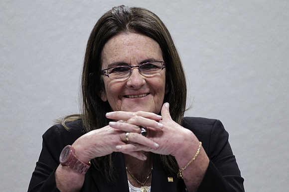 Maria das Gracas Silva Foster in Brasilia, Brazil.